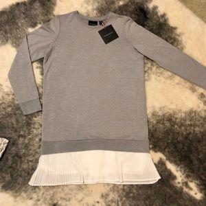 Cynthia Rowley sweater dress w/ ruffle detail NWT
